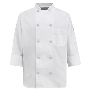 Chef Designs Womens 10 Pearl Button Chef Coat - Click for Large View
