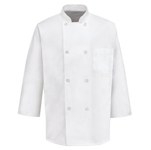 8 Button 3/4 Length Sleeve Chef Coat - Click for Large View