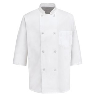 8 Button 1/2 Length Sleeve Chef Coats - Click for Large View