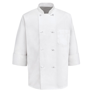 Knot Button Chef Coats - Click for Large View