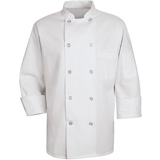 10 Button Unisex Chef Coat - Click for Large View