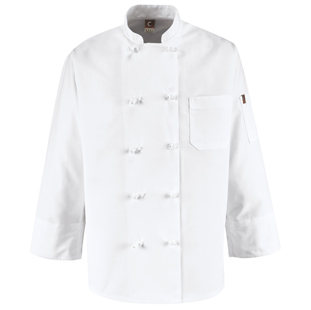 Chef Designs Ten Knot Button Chef Coat - Click for Large View