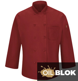 Chef Designs Men's Chef Coat with MIMIX and OilBlok