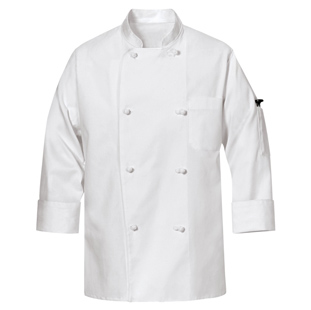 100% Cotton Unisex Chef Coat - Click for Large View