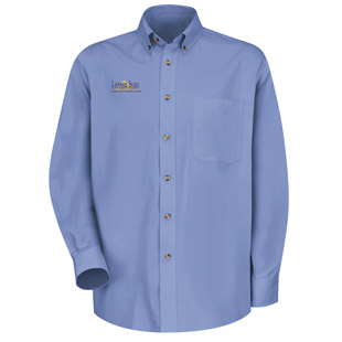 Lawson State Community College Meridian Performance Long Sleeve Twill Shirt - Click for Large View
