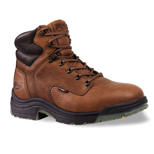 Timberland PRO 6 Inch TiTAN Brown Safety Toe Work Boots - Click for Large View