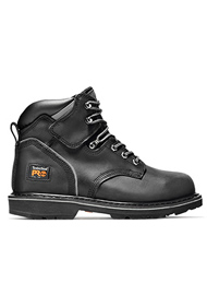 Timberland PRO Men's Pit Boss 6 Inch Steel Toe Black Work Boots