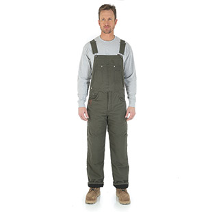 Wrangler Riggs Workwear Ripstop Thermal Lined Bib Overall - Click for Large View