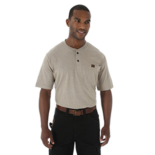 Wrangler Riggs Workwear Short Sleeve Henley - Click for Large View