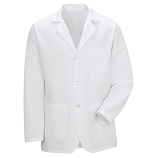 Red Kap Unisex Basic White Counter Coat - Click for Large View