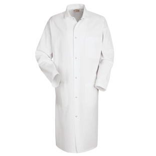 Chef Designs Unisex Butcher Frock with Pockets (3 Outside Pockets) - Click for Large View