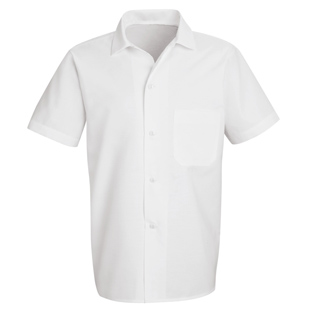 Unisex Standard White Button Front Cook Shirt - Click for Large View