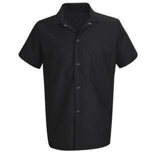 Chef Designs Unisex Standard Black Cook Shirt - Click for Large View