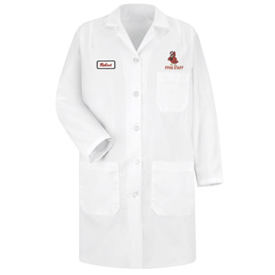 Franklin Pierce High School Womens Lab Coat - Click for Large View