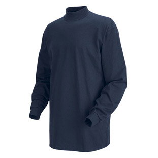 Unisex Long Sleeve Mock Turtleneck - Click for Large View