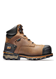 Timberland PRO Men's Boondock 6 Inch Brown Soft Toe Work Boots