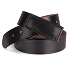 100% Leather No Scratch Buckle Belt