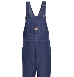 Red Kap Men's High Back Bib Denim Overall