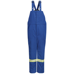 Bulwark Nomex IIIA Flame Resistant Deluxe Insulated Bib Overall with Reflective Trim - Click for Large View
