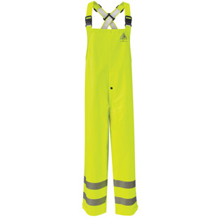Bulwark Flame Resistant Hi-Visibility Rain Bib Overall HRC2 - Click for Large View
