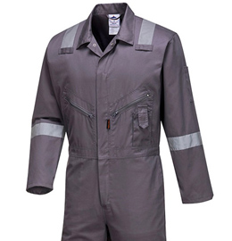 Portwest Iona Cotton Coverall with Reflective Striping