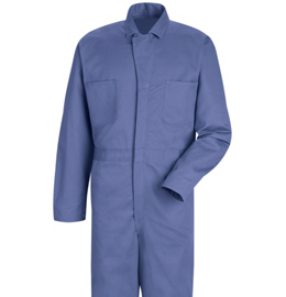 Red Kap Men's Button Front Cotton Coveralls - 4 color choices
