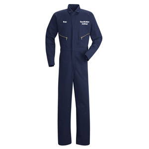 Texas Maritime Academy Zip-Front Cotton Coveralls - Click for Large View