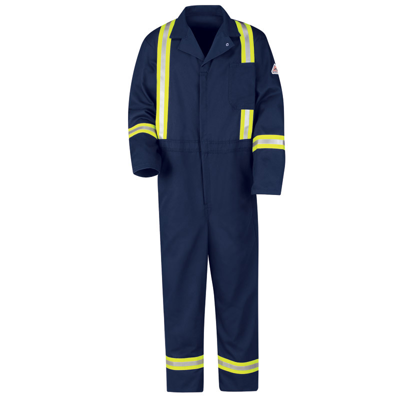 Bulwark Flame Resistant Excel-FR Cotton Classic Coveralls with Reflective Trim - Click for Large View
