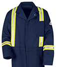 Bulwark Flame Resistant Excel-FR Cotton Classic Coveralls with Reflective Trim