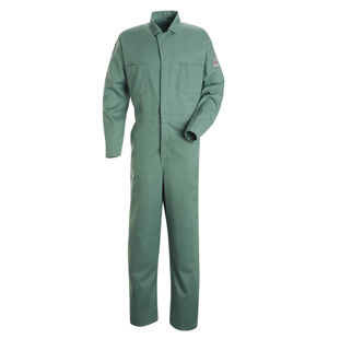 Flame Resistant Cotton Gripper Front Coverall - Click for Large View
