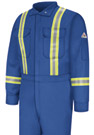 Bulwark Flame Resistant Comfortouch Coverall with Reflective Trim