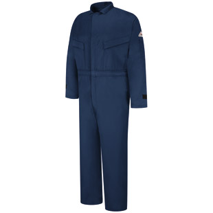 Bulwark Flame Resistant Excel-FR Deluxe Comfortouch Coverall with Leg Zipper and Suppression Tabs - Click for Large View