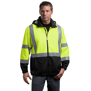 CornerStone ANSI 107 Class 3 Safety Windbreaker - Click for Large View