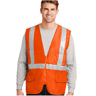 CornerStone ANSI 107 Class 2 Mesh Back Safety Vest - Click for Large View