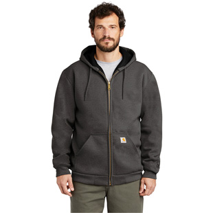 Carhartt Rain Defender Rutland Thermal-Lined Hooded Zip-Front Sweatshirt - Click for Large View