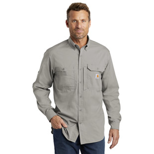Carhartt Force Ridgefield Solid Long Sleeve Shirt - Click for Large View