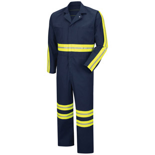 Red Kap Enhanced Visibility Action Back Coverall - Click for Large View