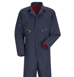 Red Kap Men's Insulated Navy Blue Twill Coveralls