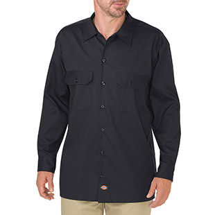 Dickies FLEX Relaxed Fit Long Sleeve Twill Work Shirt - Click for Large View