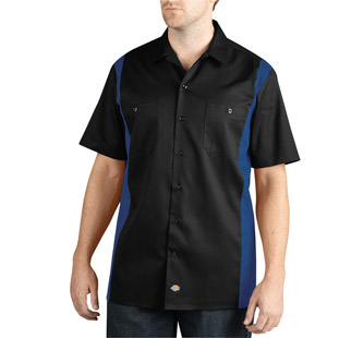 Dickies Short Sleeve Two-Tone Work Shirt - Click for Large View