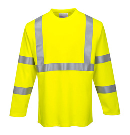 Portwest FR Hi-Vis Long Sleeve T-Shirt - CAT2, Type R, Class 3