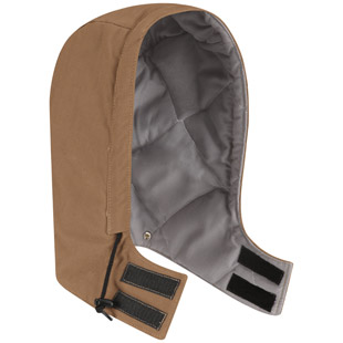 Bulwark Flame Resistant Uni Fit Snap On Insulated Brown Duck Hood - Click for Large View
