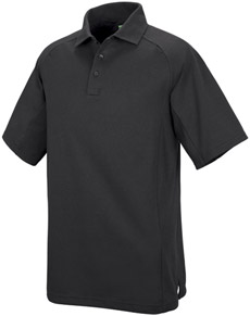 Unisex Special Ops Black Short Sleeve Polo - Click for Large View