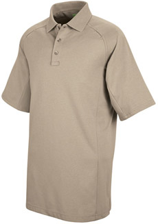 Unisex Special Ops Silver Tan Short Sleeve Polo - Click for Large View