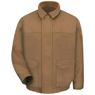 Bulwark Flame Resistant Brown Duck Bomber Jacket - Click for Large View