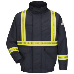 Bulwark Flame Resistant Excel-FR Comfortouch Lined Bomber Jacket with CSA Reflective Trim - Click for Large View