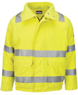 Bulwark Flame Resistant Men's Lightweight Hi-Visibility Insulated Bomber Jacket