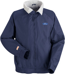 Ford Navy Blue Nylon Crew Technician Jacket with Embroidered Ford Logo - Click for Large View