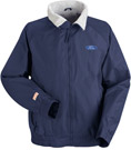 Ford Navy Blue Nylon Crew Technician Jacket with Embroidered Ford Logo