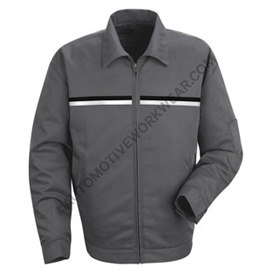 Red Kap Slash Pocket Technician Jacket with Dual Chest Striping